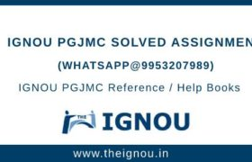 IGNOU PGJMC Assignment Free Download