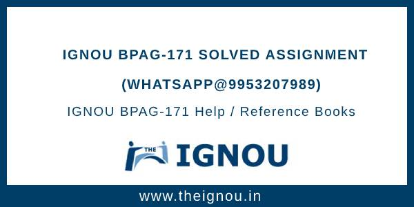 IGNOU BPAG-171 Solved Assignment