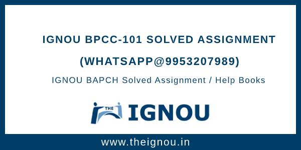 IGNOU BPCC101 Solved Assignment