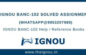 IGNOU BANC102 Assignment